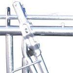 Nærbilde av detalj til fanghekk standard