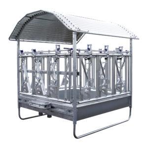 Fôringskasse isolert på hvit bakgrunn