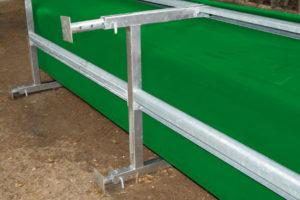 Grønn krybbe for kraftfor med justerbare føtter